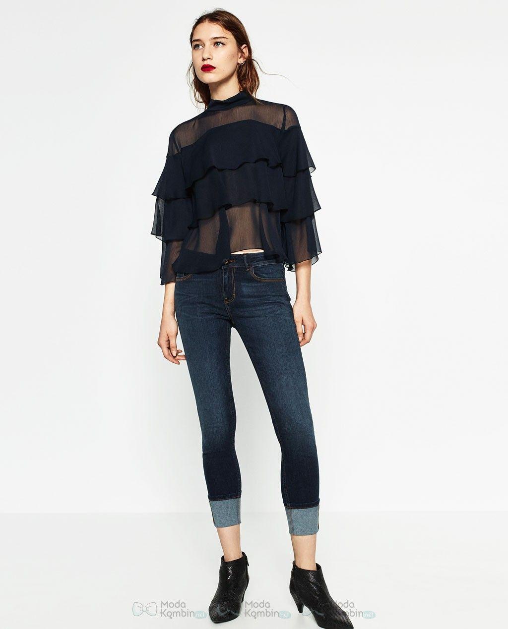 2017 Zara Bayan Jean Pantolon Modelleri Ve Fiyatlari 2017zarabayanjeanpantolonmodelleri 2017zarajeanpantolonmodasi Zara Moda Moda Stilleri