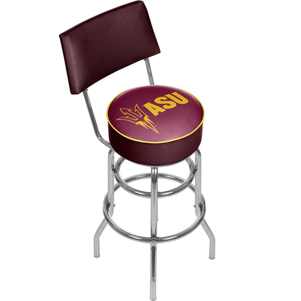 Enjoyable Trademark Arizona State University 30 In Chrome Padded Andrewgaddart Wooden Chair Designs For Living Room Andrewgaddartcom