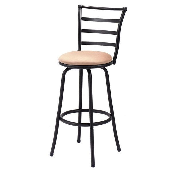costway swivel bar stool counter height pub chair bar stools