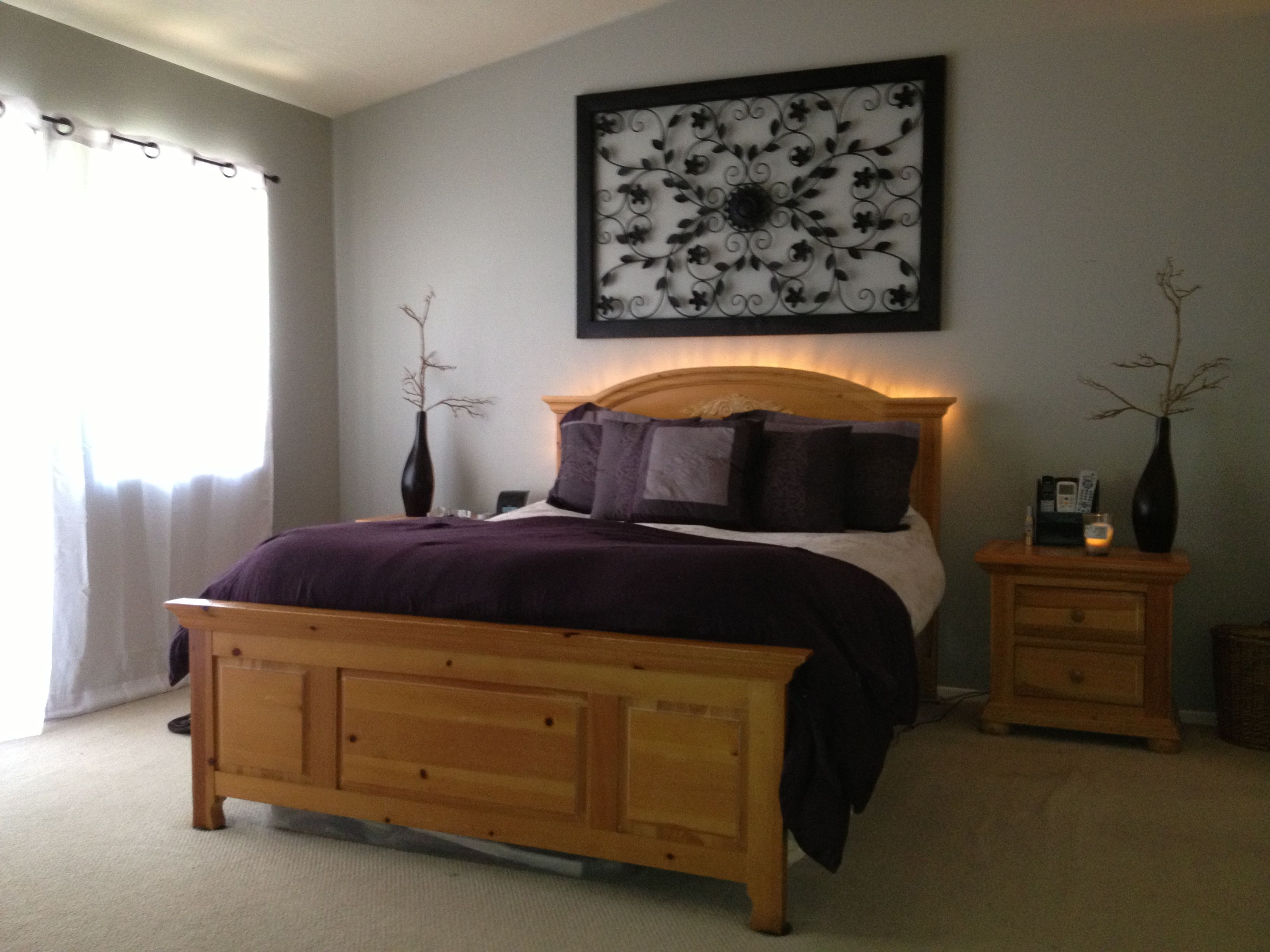 Best Just Finished Re Doing Our Master Bedroom Painting New 400 x 300
