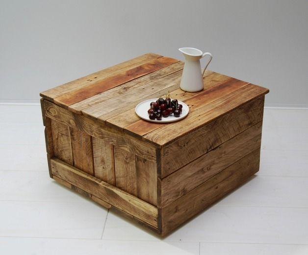 Couchtische - Couchtisch No 80 - Würfel   Truhe - ein - designer couchtisch tiefen see