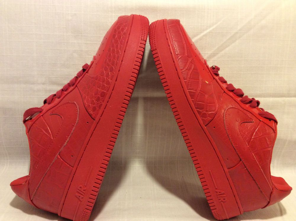 release date: ce24e db19c NIKE AIR FORCE 1 LOW SUPREME SIZE 12 1LOVE HECTIC LEATHER CROCO VERY RARE  SHOES Nike AthleticSneakers