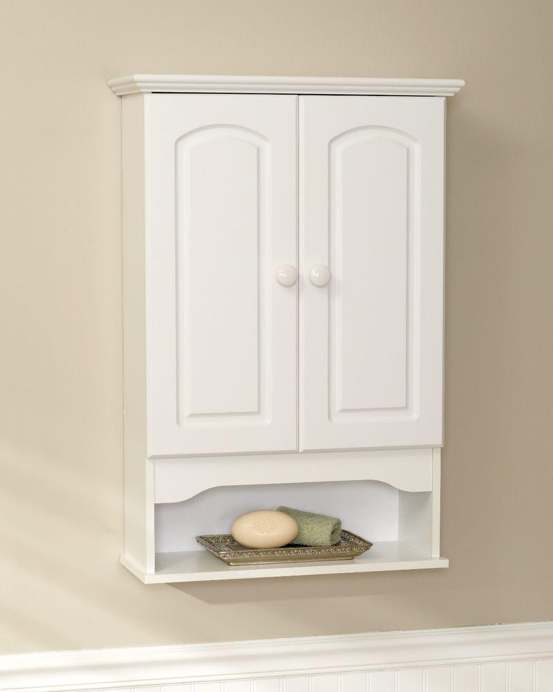 Hartford Classic Bathroom Wall Storage Cabinet By Zenith White E9615w Zenith Muebles Para Banos Pequenos Muebles De Bano Banos Pequenos
