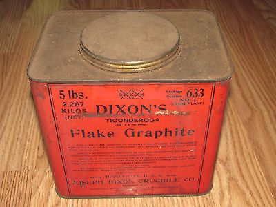 "Antique DIXON'S FLAKE GRAPHITE 5 LB. TIN w/contents Barn Find 7"" x 6 1/2"" x 5"" https://t.co/3zzFwyL5ku https://t.co/QlDf4fk2pO http://twitter.com/Foemvu_Maoxke/status/773900197441208321"