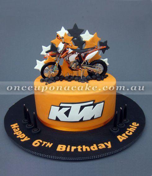 ktm motorbike cake | www.onceuponacake.au | cakes for boys