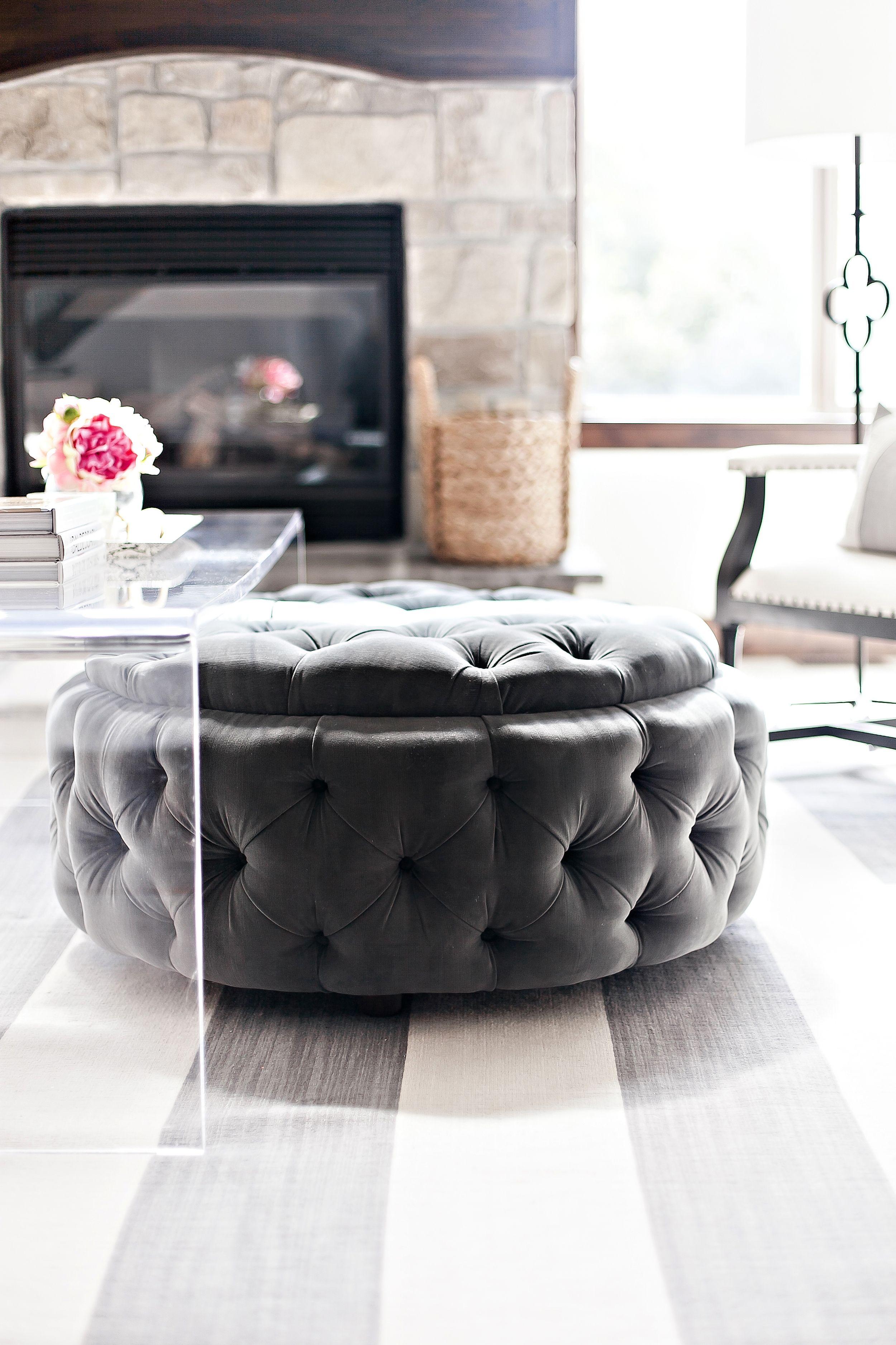 portfolio round ottoman coffee table