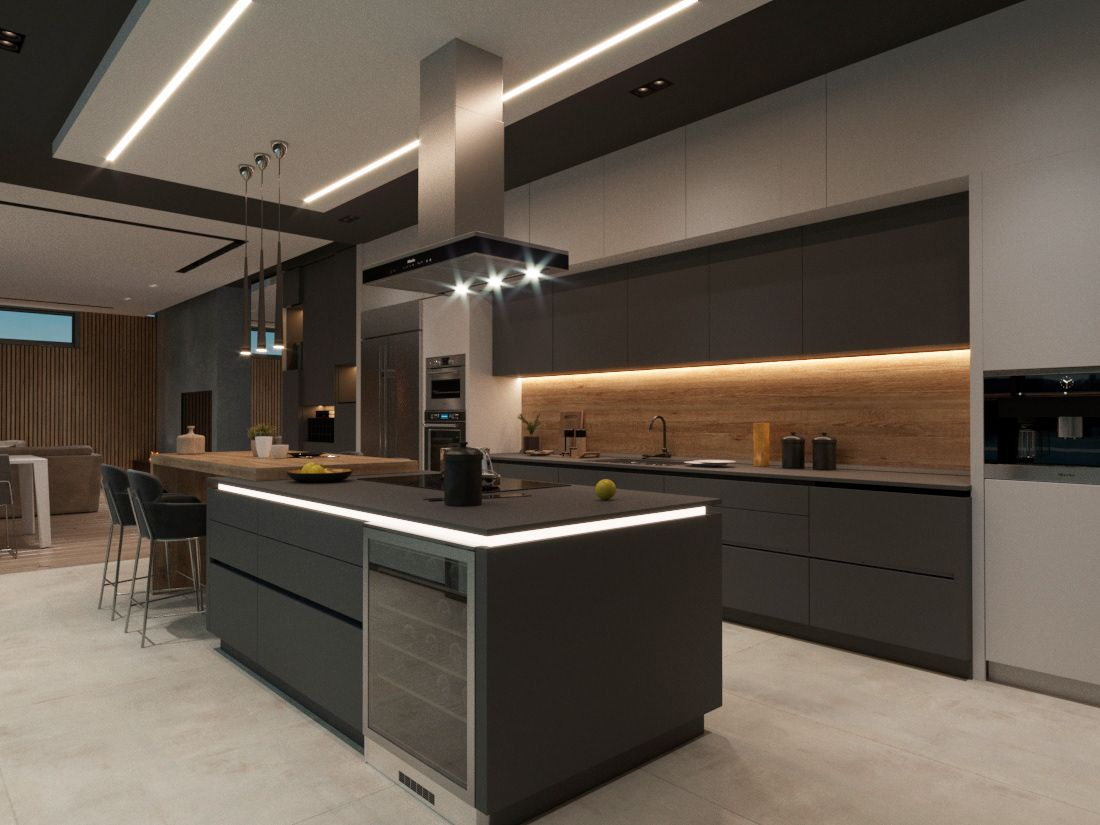 Дом в Норвегии on Behance   Kitchen interior design modern ...