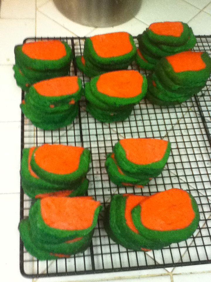 Mini Watermelon butter cookies