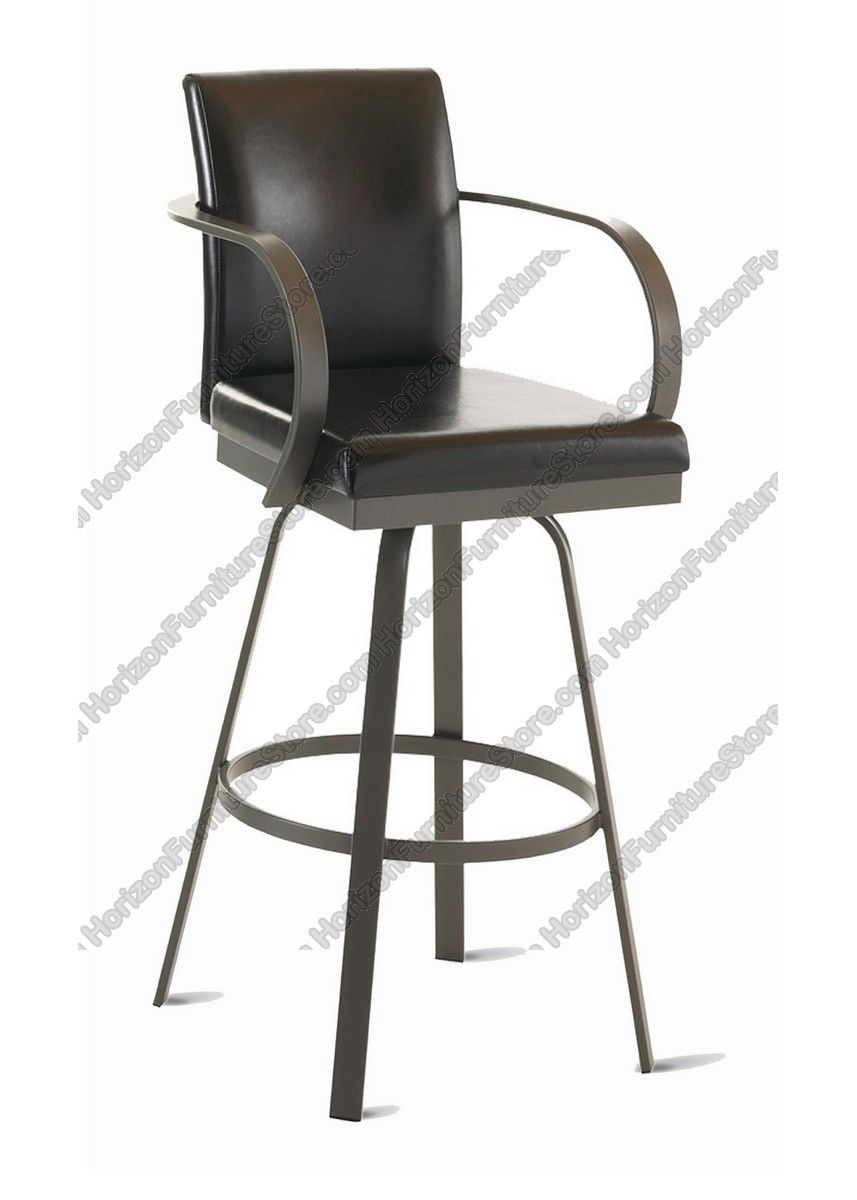 Pleasant Amisco Lance Upholstered Back Swivel Stool With Arms 41436 Ncnpc Chair Design For Home Ncnpcorg