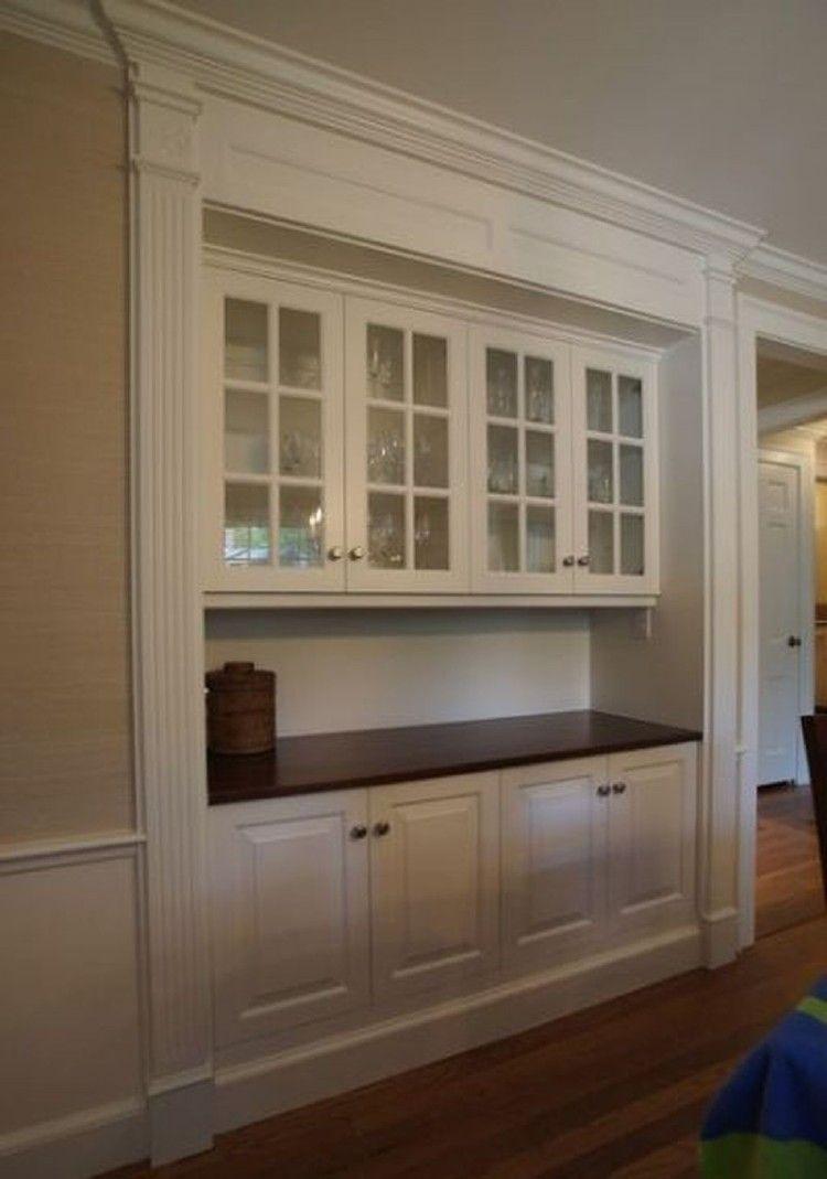 38 Lovely Dining Room Wall Cabinet Design Ideas #homedecor