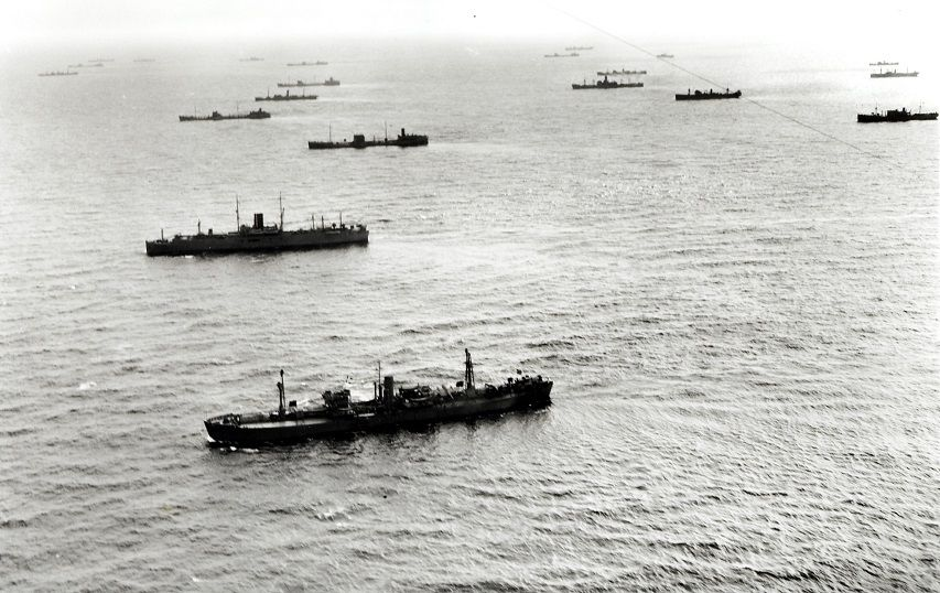 Merchant ships of Convoy HX188 en route to Britain