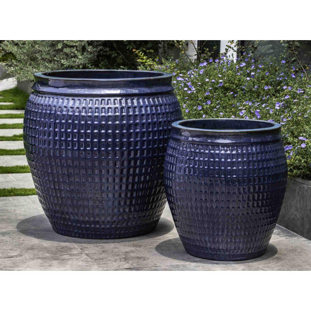 Garden decor kijiji  Kinsey Garden Decor Ventana Planters Mediterranean Blue indoor