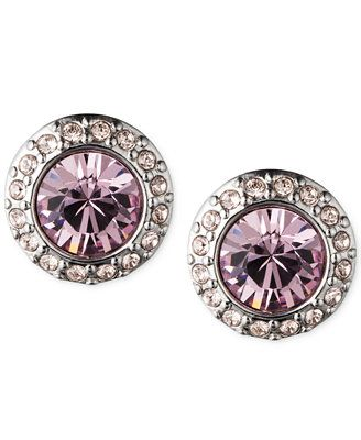 Givenchy Pavé Button Stud Earrings