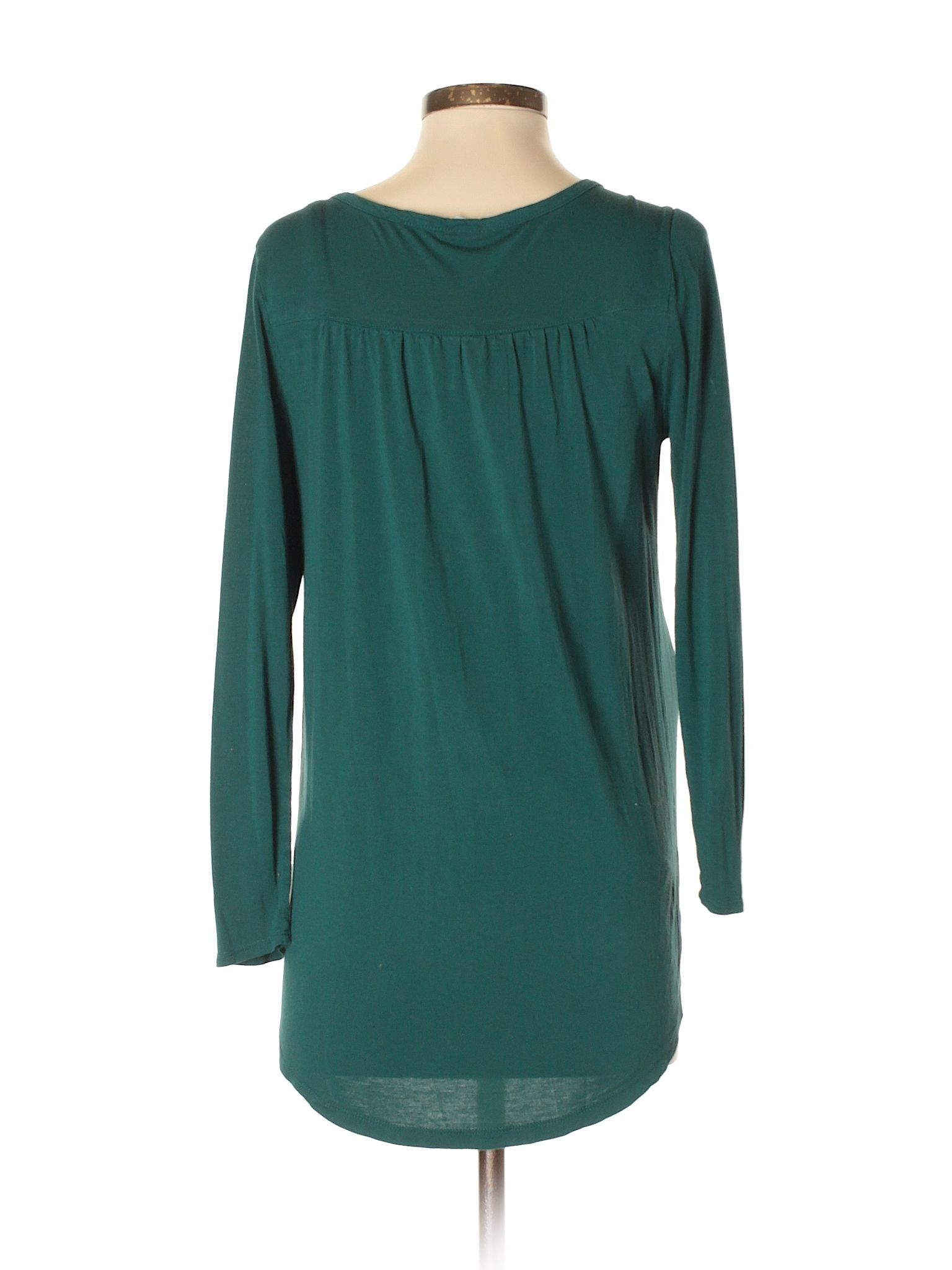 Old Navy Long Sleeve Henley Size 400 Teal Womens Tops