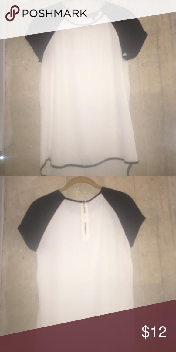 Baseball blouse Sheer shortsleeved baseball blouse. Worn once. Spense Tops Blouses