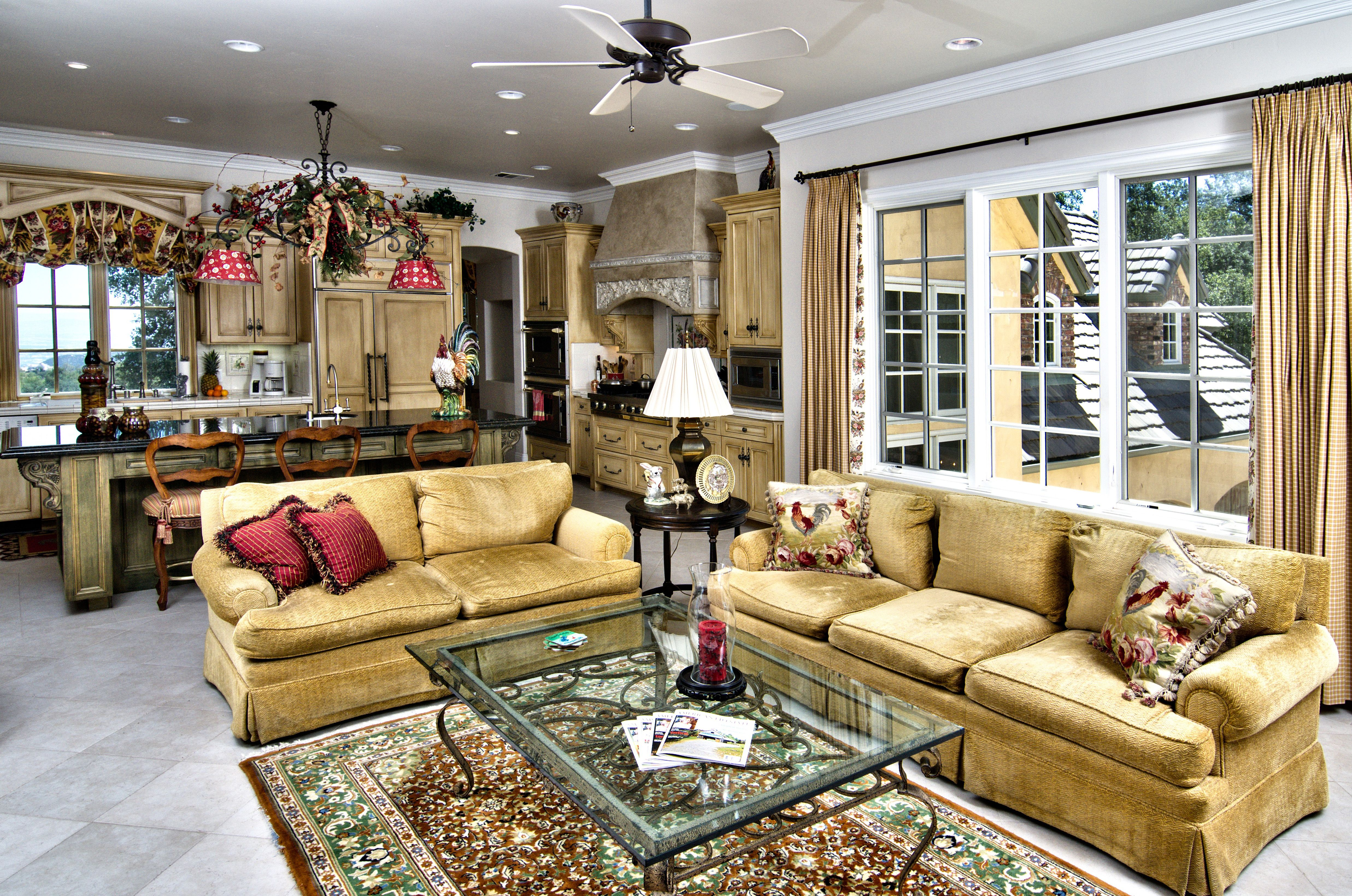 Magnificent Country Living Room Design Showing Off Opulence Gold ... Living  Room Furniture DesignsModern ...