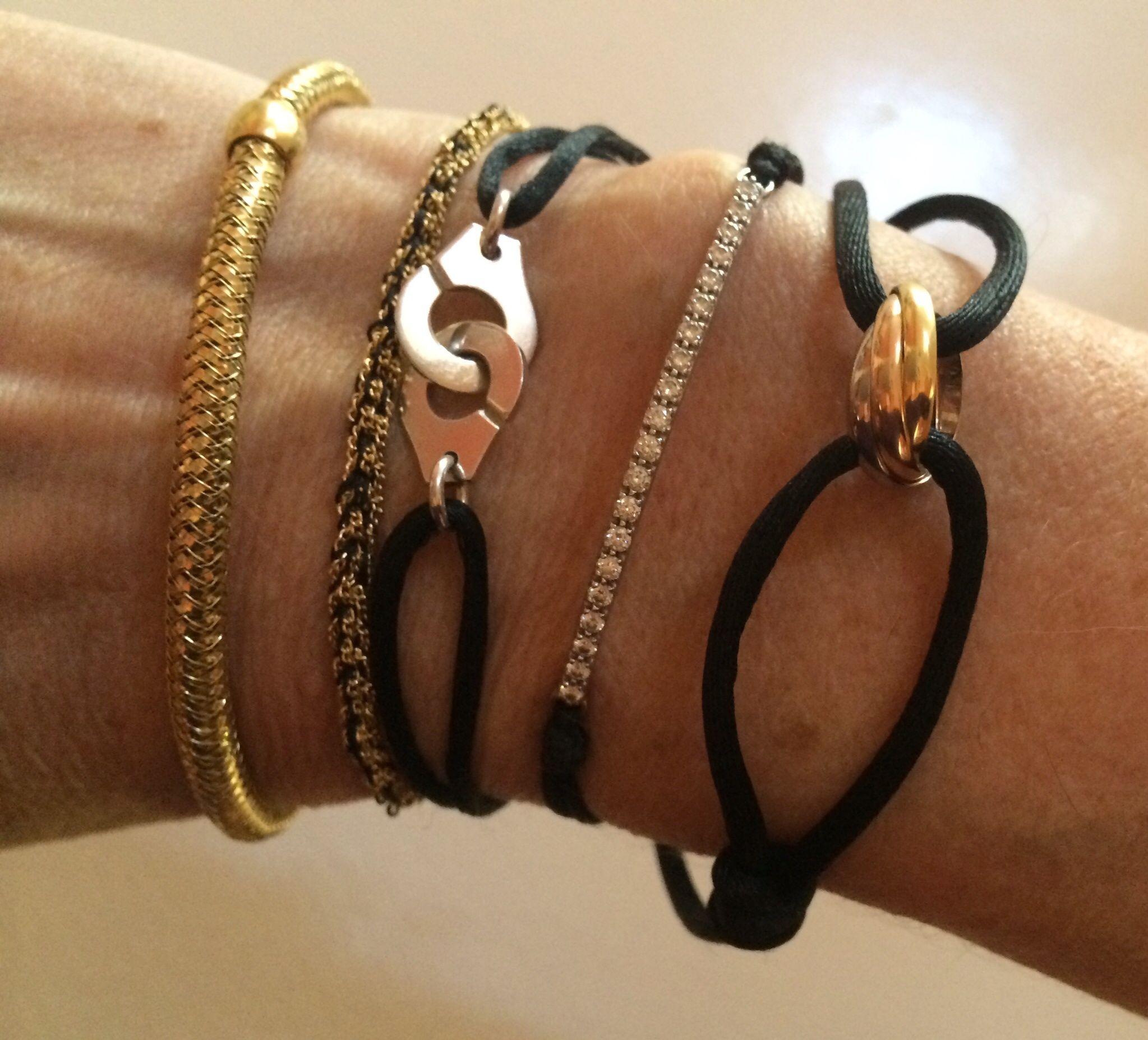 694c809acd56 Roberto Coin Primavera bracelet, Carolina Bucci Health bracelet, Dinh Van  Menottes bracelet, Tiffany Metro bracelet, Cartier Trinity bracelet