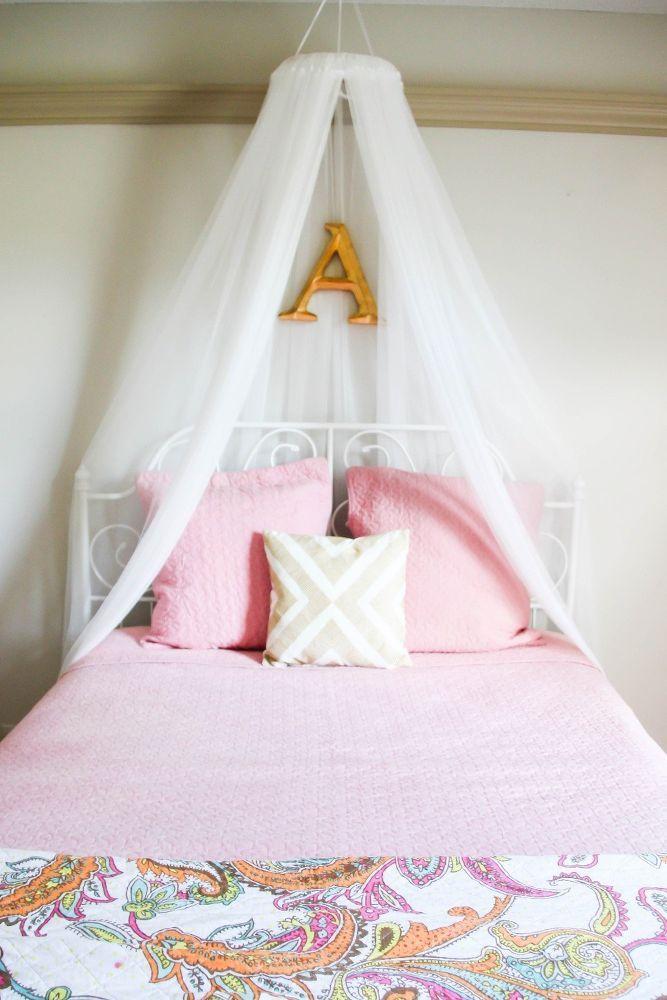 Diy Girls Bed Net Canopy Cama Sencilla Cama Artesanal Hacer La Cama
