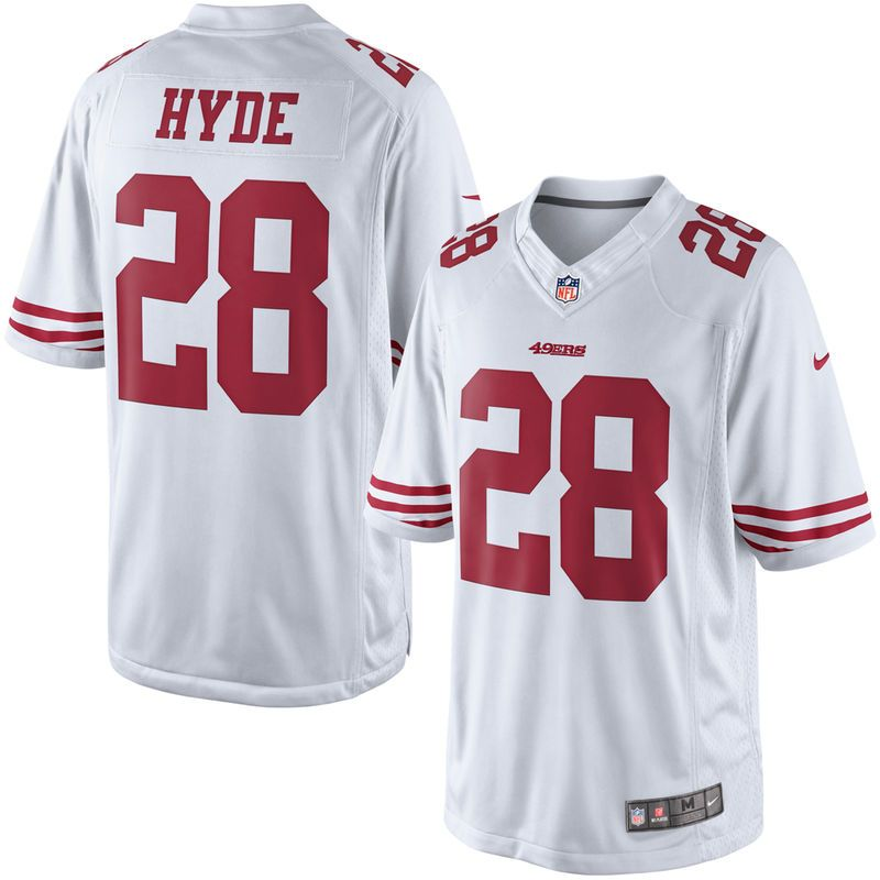 new style be330 773a6 Carlos Hyde San Francisco 49ers Nike Limited Jersey - White ...