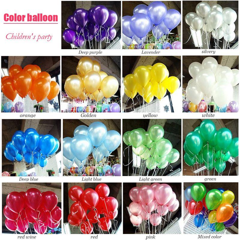 100pcs Lot Birthday Balloons 10inch Latex Helium Balloon