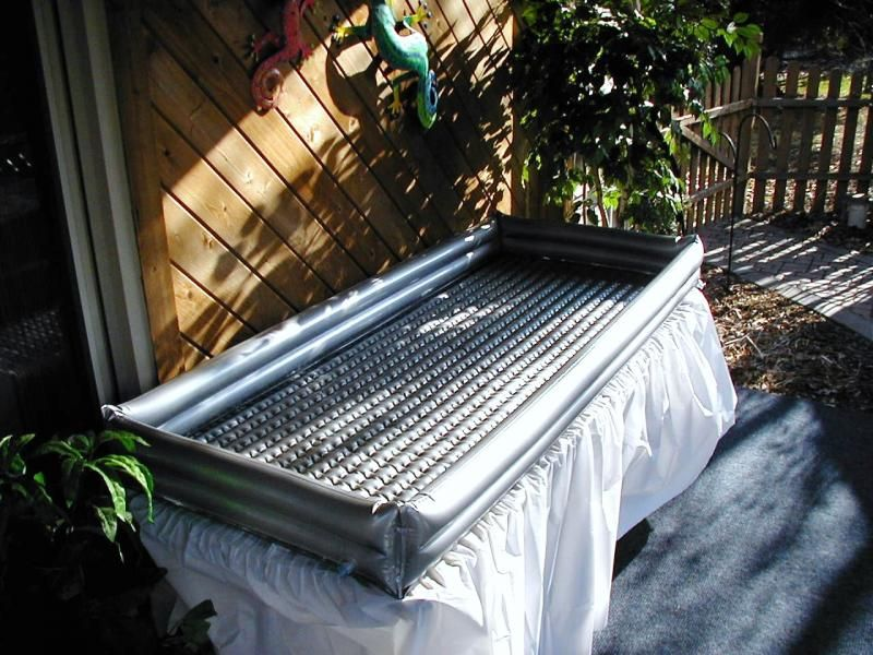 Inflatable table top cooler to keep cold food cold with for How to make a cooler table