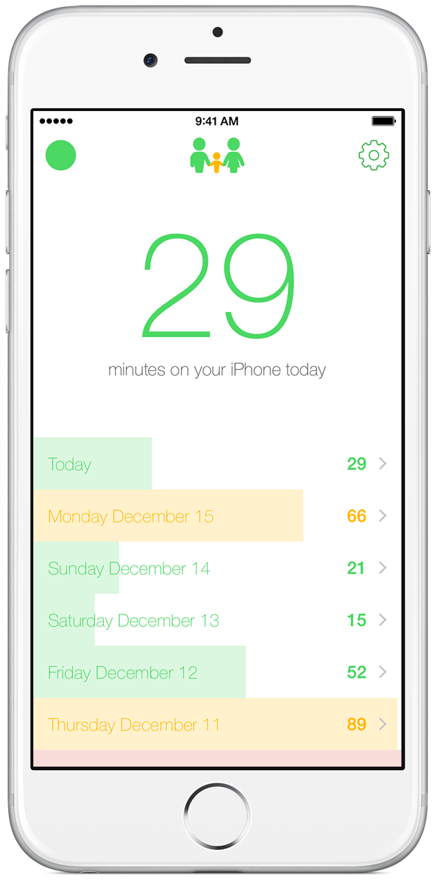 App to monitor screen time