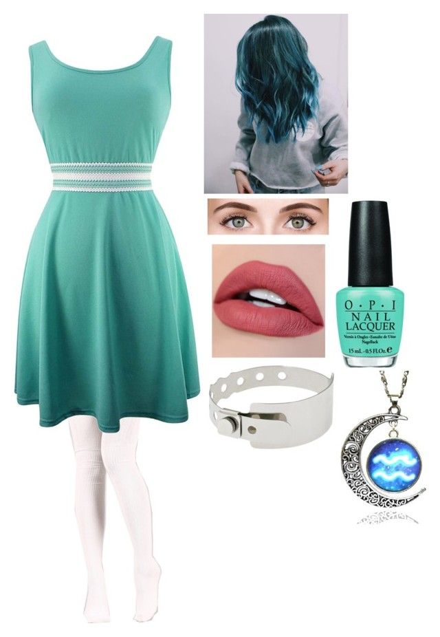 """""""Grace (OC)"""" by twilightfreak18-1 ❤ liked on Polyvore featuring Clarins and OPI"""