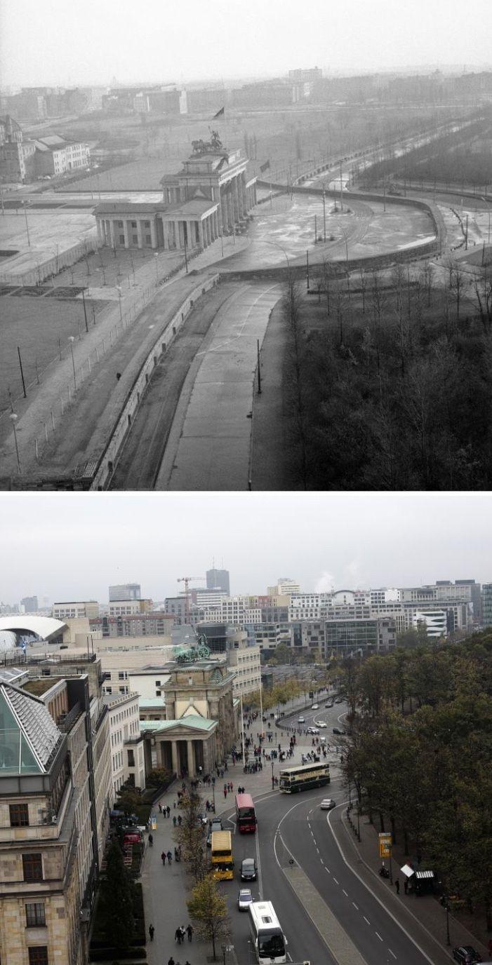 Brandenburger Tor 1961 2014 Berliner Mauer Berlin Geschichte Geschichte