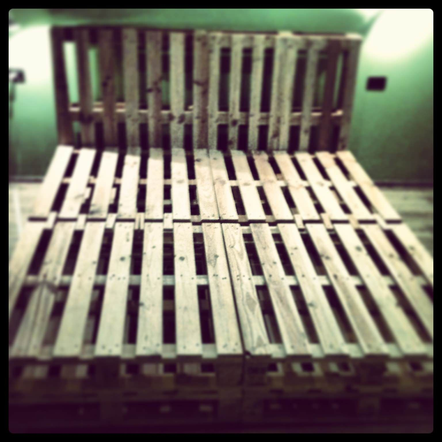 King size pallet bed pallet ideas facebook we have for Cheap ways to make a bed frame