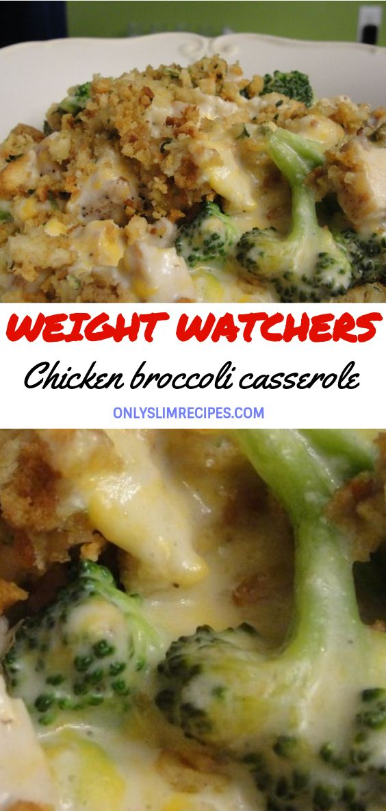 Weight Watchers Chicken broccoli casserole images