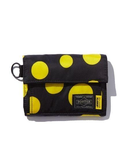 New! XLARGE × PORTER × Yayoi Kusama Wallet Purse Japan Dot Yellow Rare F/S #Asian