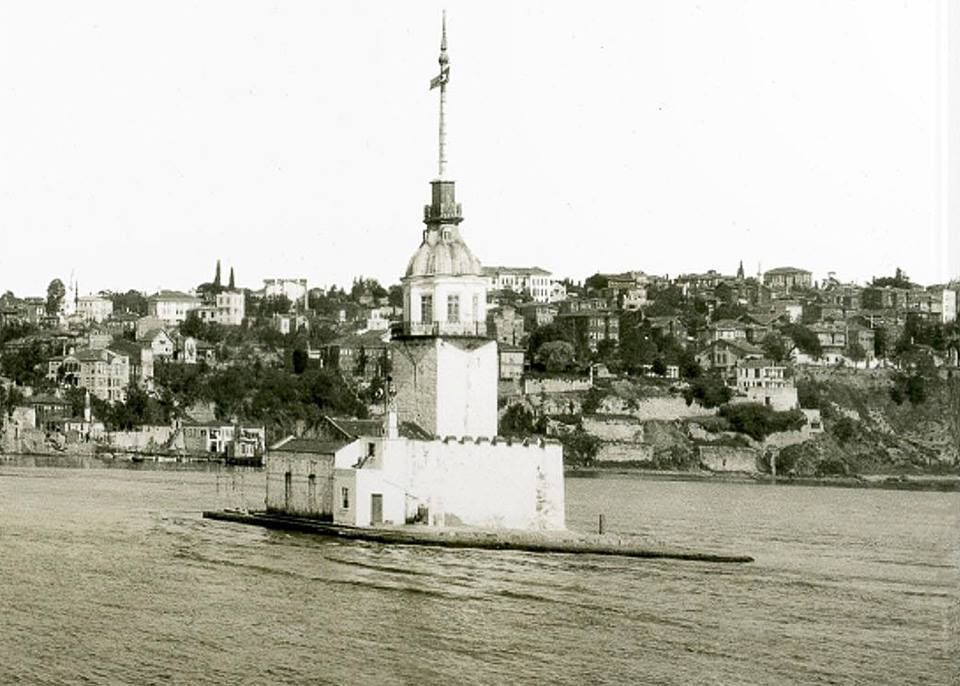 1930 larda kizkulesi eski istanbul fotograflari arsivi istanbul fotograf kule