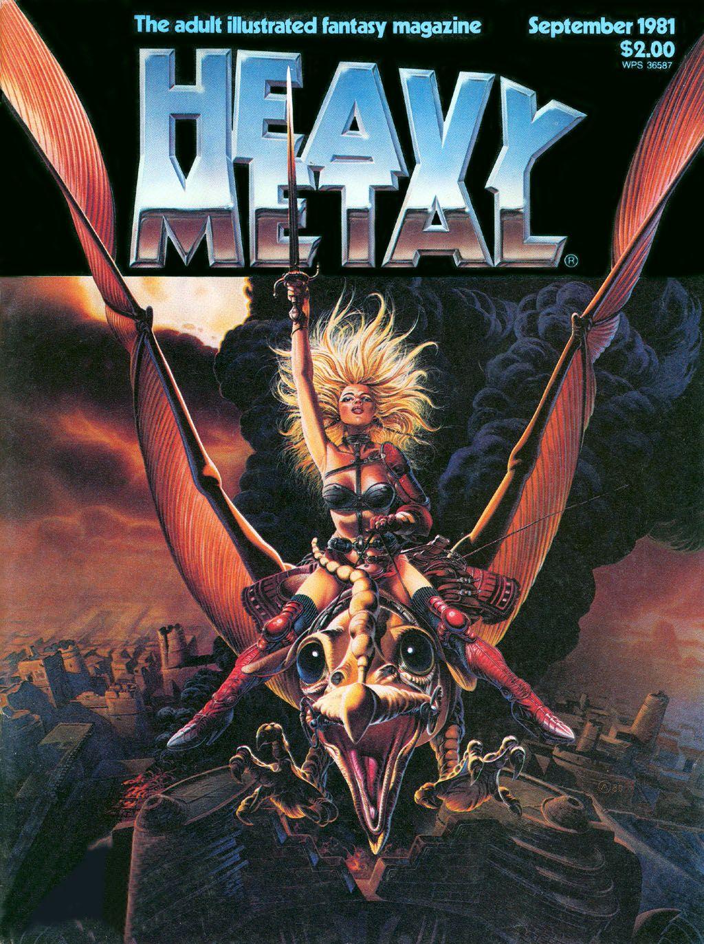 Heavy Metal 09 81 Heavy Metal Movie Metal Magazine Heavy Metal Comic