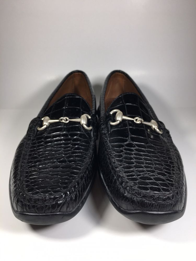 f629bfd7dda06 Allen Edmonds Grand Cayman Mens Black Leather Croc Print Loafers Sz US 10 B   fashion  clothing  shoes  accessories  mensshoes  casualshoes (ebay link)