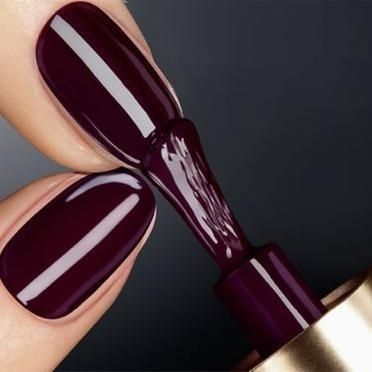 Dark Plum Nail Color Love In 2019 My Style Plum Nails Nails