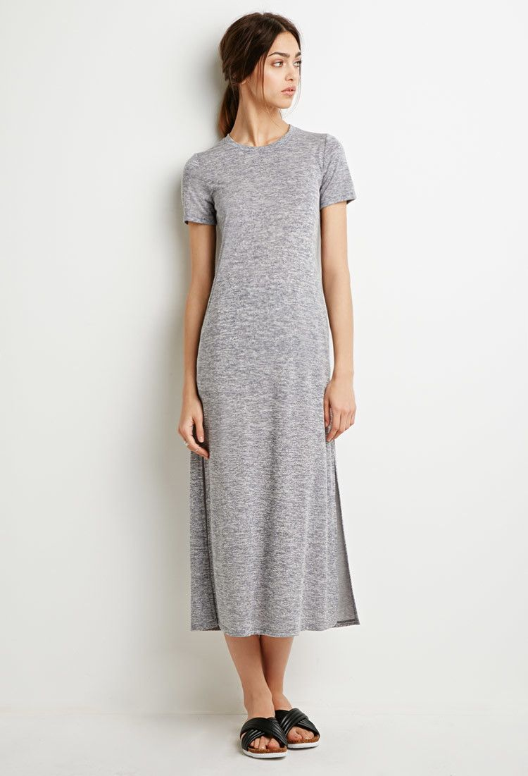 Marled Knit T-Shirt Dress - Dresses - 2002247501 - Forever 21 UK