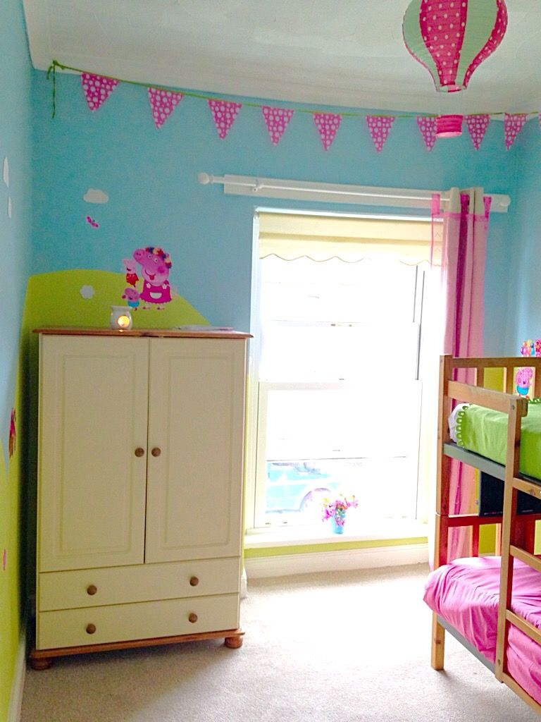 Peppa Pig Bedroom Huge Peppa Pig Decal Removable Wall Sticker Home Decor Art Kids