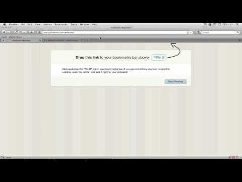 Pinterest Icon Bookmarklet Help