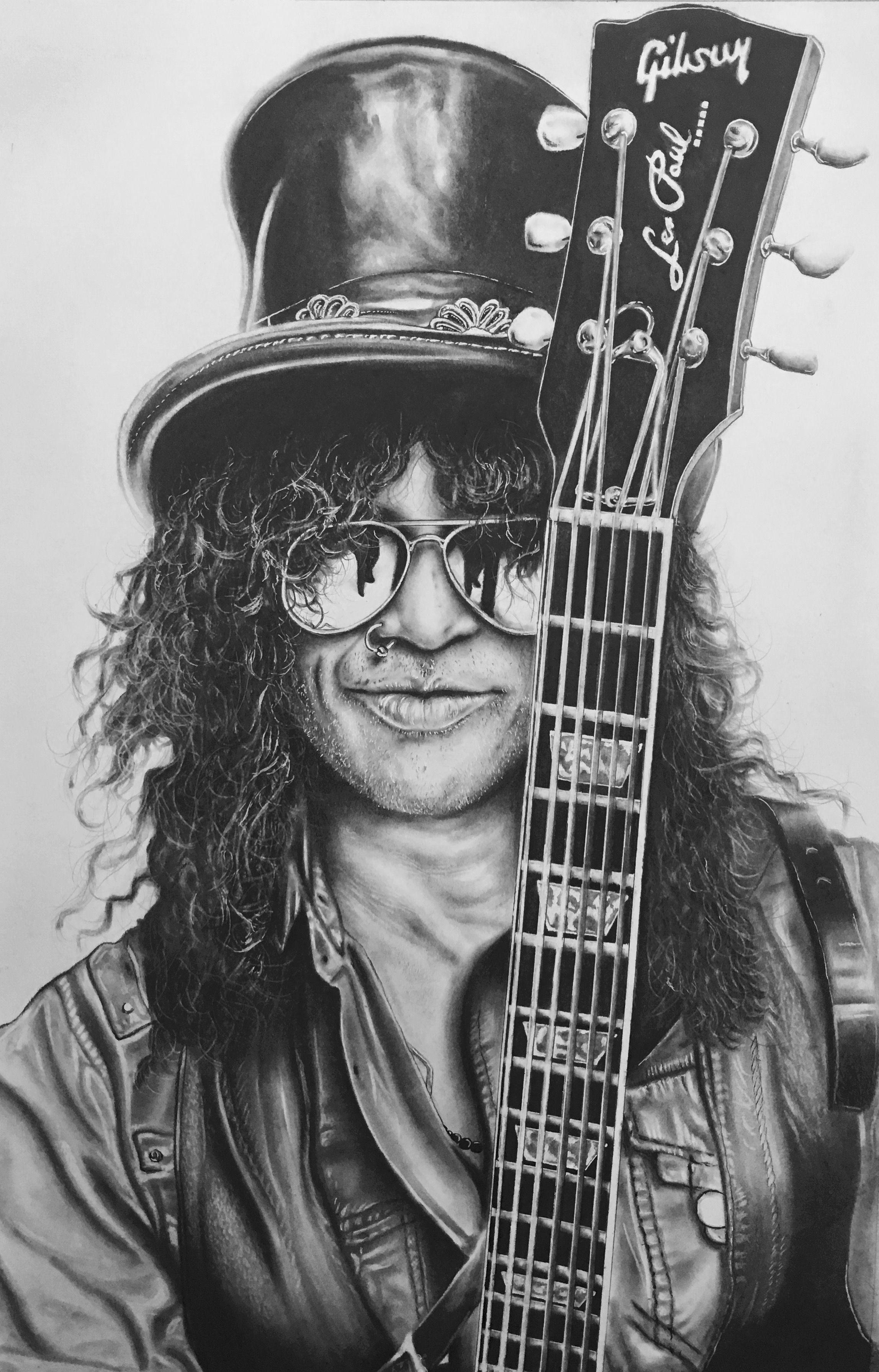 Slash Guns N Roses Charcoal And Graphite Sketch Guns N Roses Roses Drawing Celebrity Art Drawings