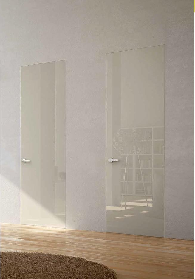 Porta filo muro laccato lucida | Collezione porte interne Pivato ...