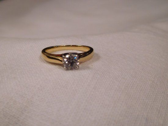 18k Diamond Solitaire Ring .45 cts | Auctions Online | Proxibid