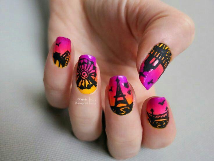 Carnival  Paris nailart #nailart #summer #nails #carnival