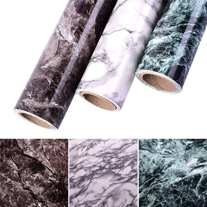 3d Wallpaper Cabinet Furniture Waterproof Marble Pattern Self
