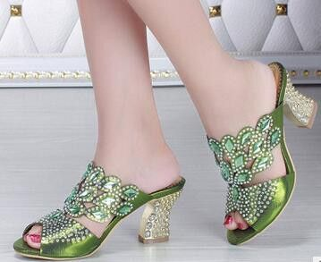 cheap price cost European Brand Handmade embroidery Shoes women\'s Fashoin slippers Woman luxury chunky heels Square head Shoes Sandals lowest price wide range of for sale sale lowest price 100% guaranteed online 62BNK7t0