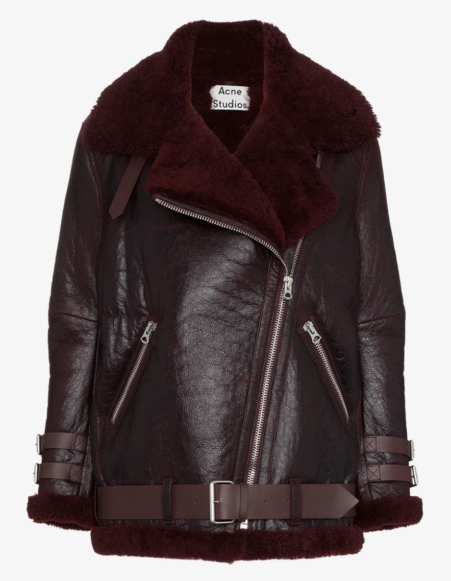 Acne Studios Shearling And Leather Jacket Leather jacket