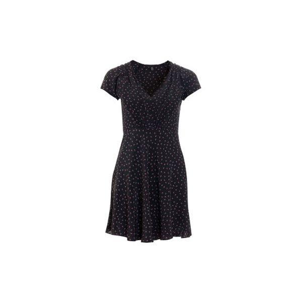 Joe's Jeans Lillie Dress ($289) ❤ liked on Polyvore featuring dresses, ruched v neck dress, floral print dress, floral printed dress, ruching dress and vneck dress
