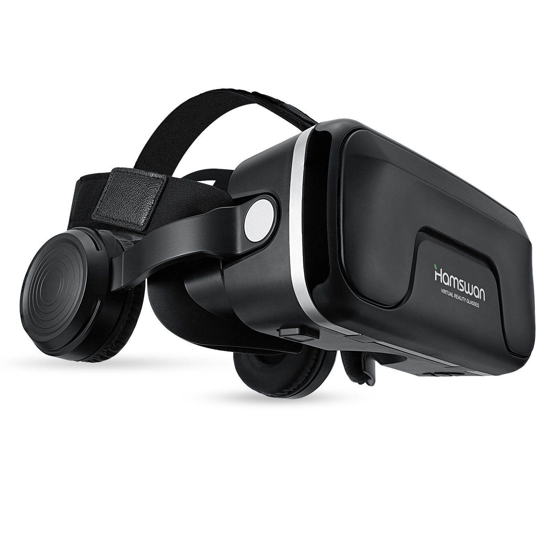 b54f38e27670e 3D VR HAMSWAN G04EA Lunette de Réalité Virtuelle Casque Réglable avec 120  Degrés Compatible pour iPhone  Samsung et Autres Smartphone 4.0 à 6.0