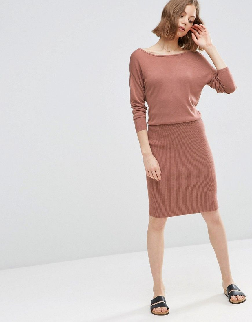 Image 4 of ASOS 2 in 1 Knit Dress with Rib Skirt