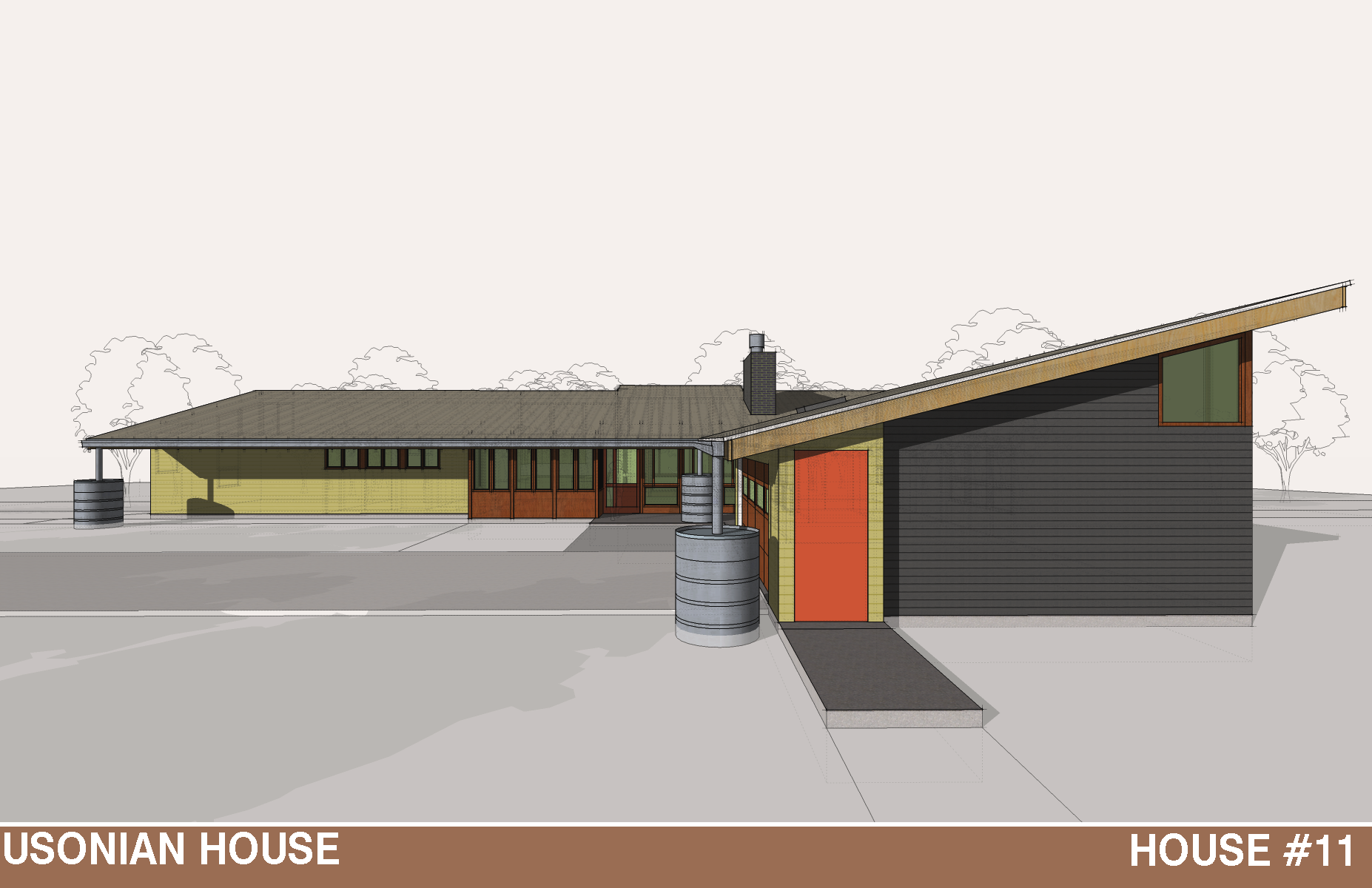 THE USONIAN HOUSE This is house based on the Usonian homes that ...