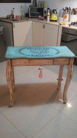 Mesa arrime provenzal modelo mirtha muebles hechos por for Mesas industriales vintage